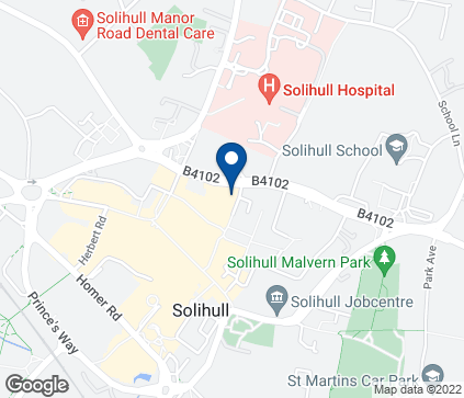 Map of 57 Mill Lane in Solihull