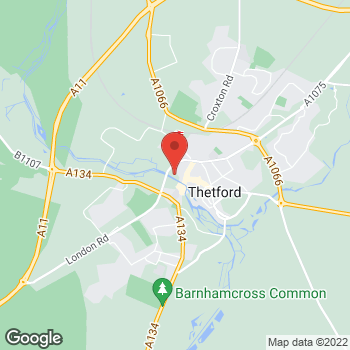 Map of wilko Thetford at Minstergate, Thetford,  IP24 1BN