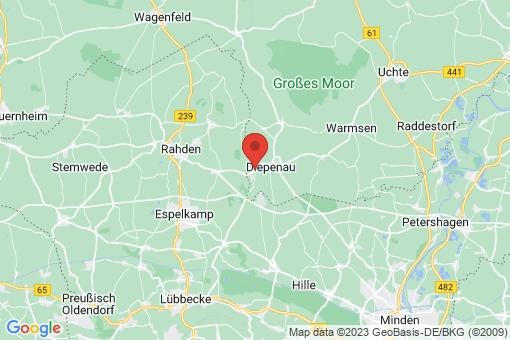 Karte Diepenau