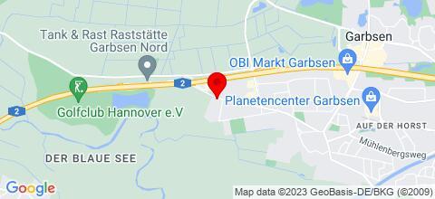 Google Map für Handwerker-Hotel Hannover