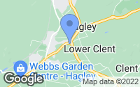 Map of Hagley, Worcestershire