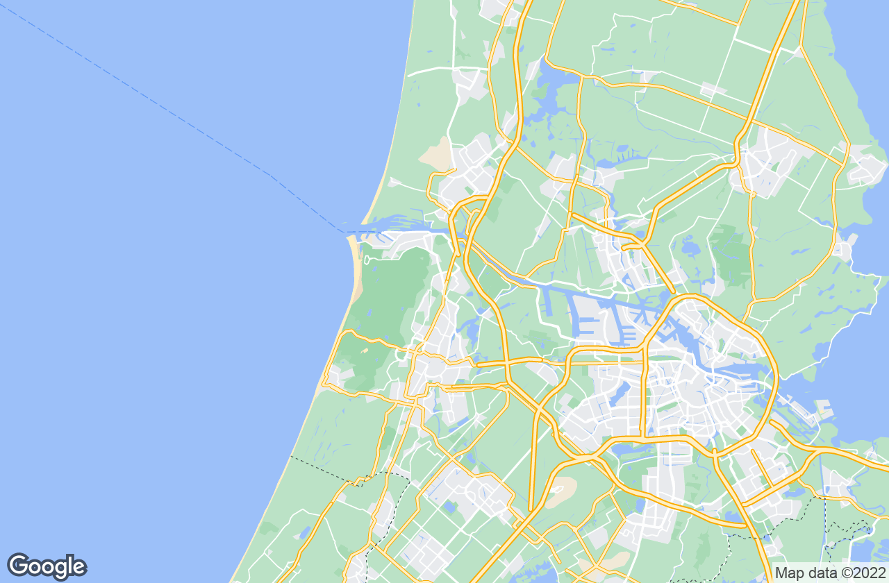 Google Map of Santpoort-Noord
