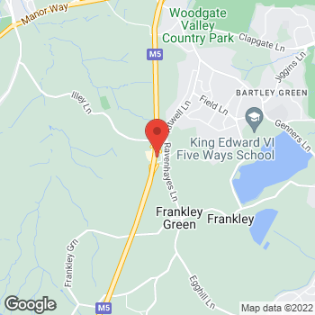 Map of Burger King at Frankley Motorway Services, Illey Lane, Birmingham,  B32 4AR