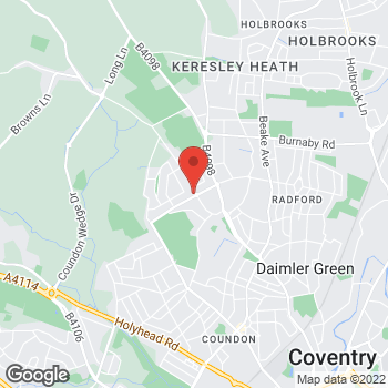 Map of Bargain Booze Plus Brownshill Green at 87 Brownshill Green, Coventry, West Midlands CV6 2AP