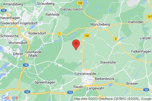 Karte Steinhöfel Jänickendorf