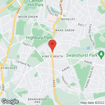 Map of wilko Kings Heath at 120-122 High Street, Birmingham,  B14 7LG