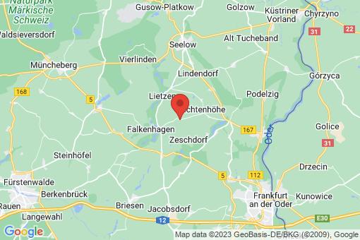 Karte Zeschdorf Döbberin