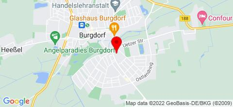 Google Map für Komfortable Ferienwohnung in Burgdorf-Hannover