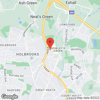Map of Burger King at Classic Drive, Arena Park, Coventry,  CV6 6AS