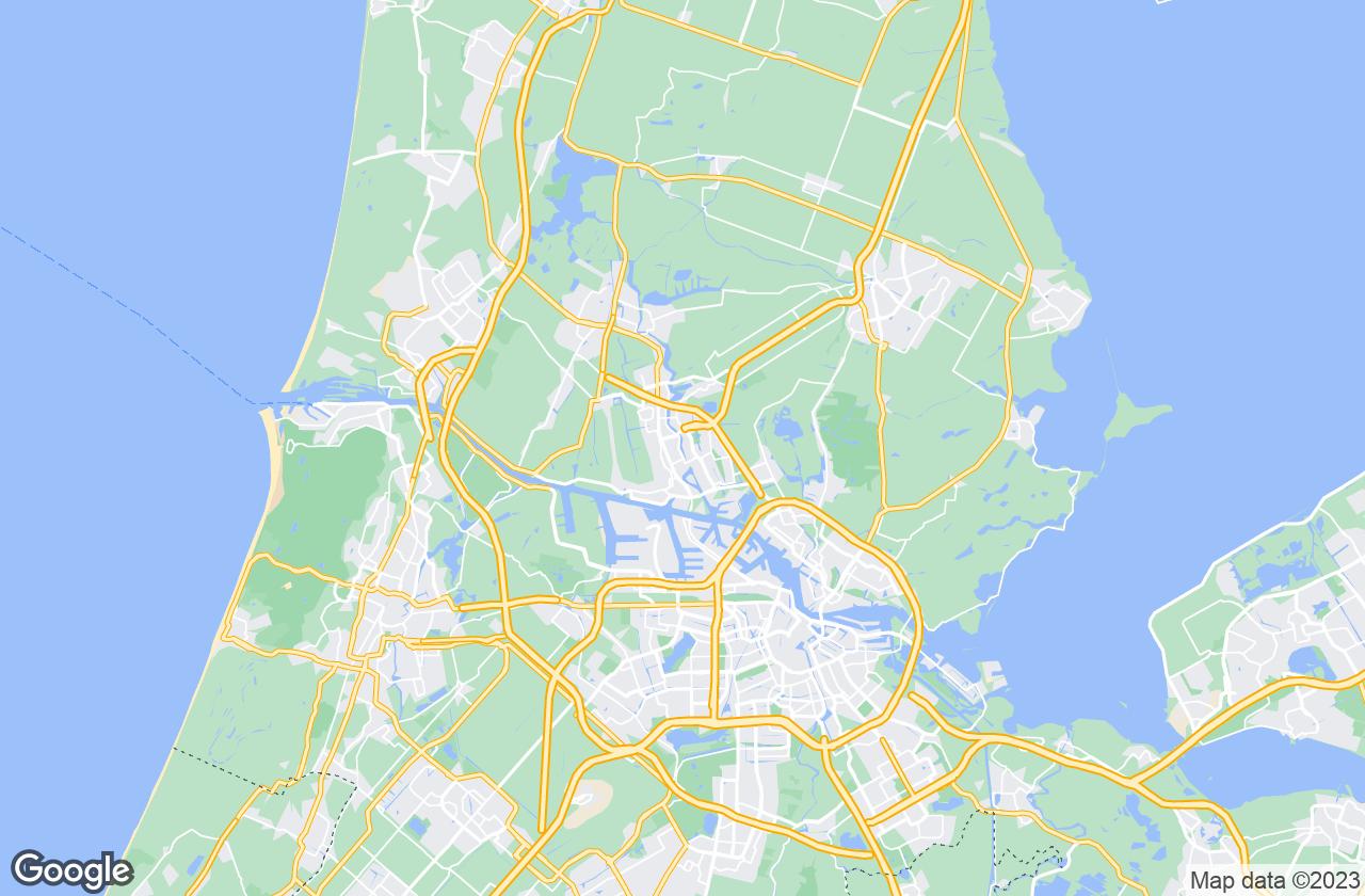 Google Map of Zaandam
