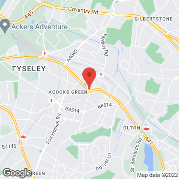 Map of wilko Acocks Green at 1062-1066 Warwick Road, Acocks Green,  B27 6BH