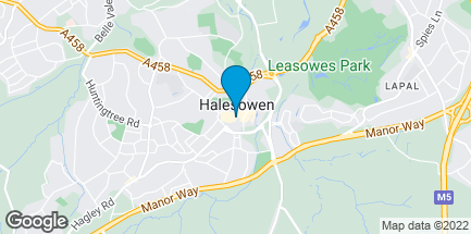 Map of 2 Hagley Mall Cornbow Centre in Halesowen