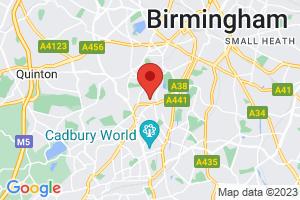 University of Birmingham - Barnes Library on the map