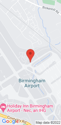 Map showing the location of the Birmingham Airport 2 monitoring site