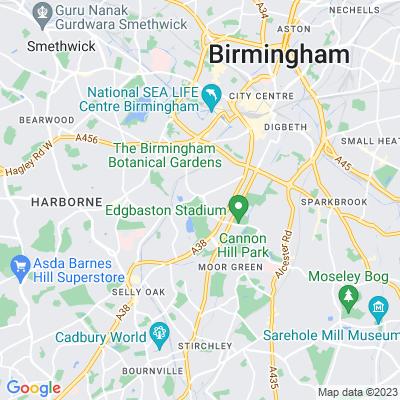 Edgbaston Hall Location