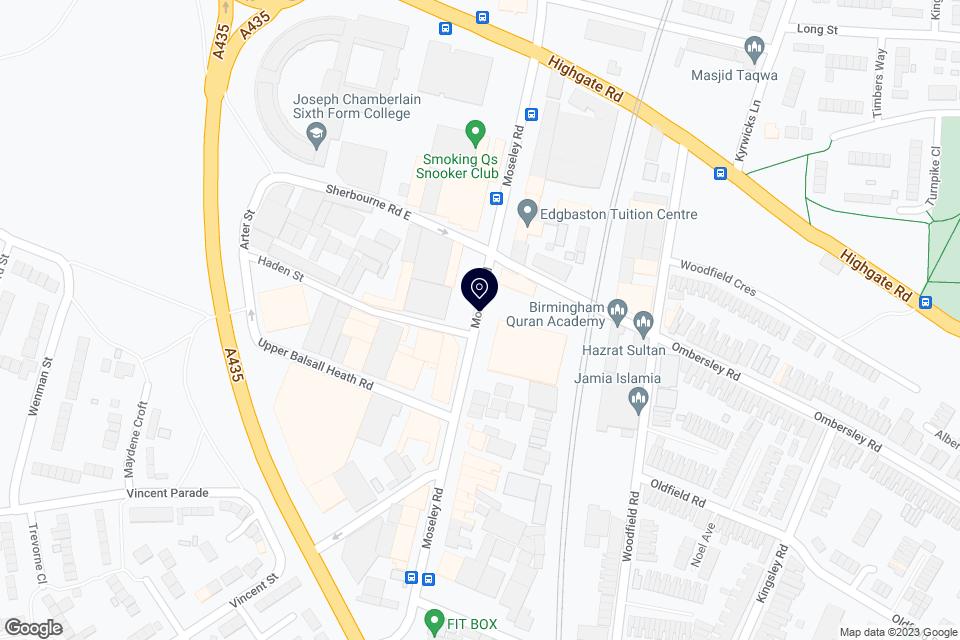 402 Moseley Rd, Birmingham, B12 9AT map
