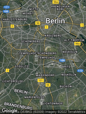 Google Map of Tempelhof