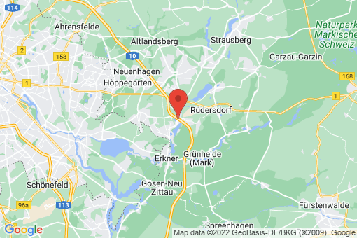 Karte Rüdersdorf bei Berlin