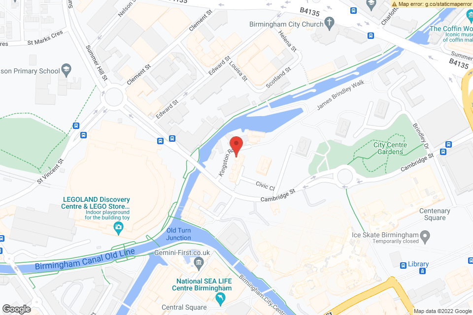 Kingston Row, Birmingham, B1 2NU map