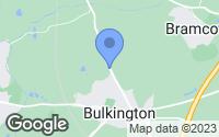 Map of Bulkington, Warwickshire