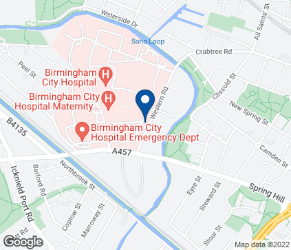 Map of Hearing Services Centre in City Hospital