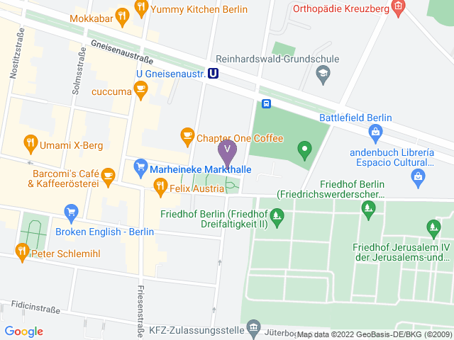 Map of the venue in Google Maps