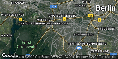 Google Map of Charlottenburg-Wilmersdorf