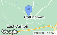 Map of Middleton, Northamptonshire