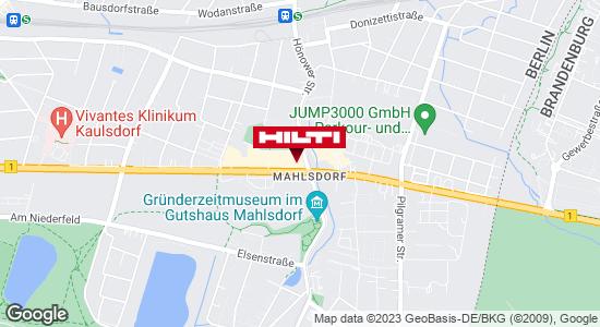 Wegbeschreibung zu Hilti Store Berlin-Mahlsdorf