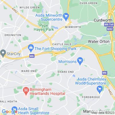 Castle Bromwich Hall Location