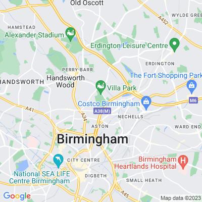 Aston Hall, Birmingham Location
