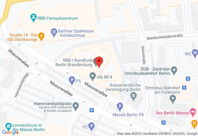 Haus des Rundfunks, Masurenallee 10, 14057 Berlin