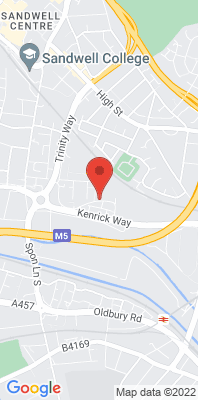 Map showing the location of the West Bromwich Kenrick Park monitoring site