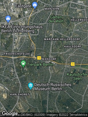 Google Map of Biesdorf