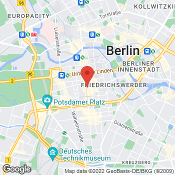 Map of Salvatore Ferragamo at Friederichstraße 76-78, Berlin, Berlin 10407