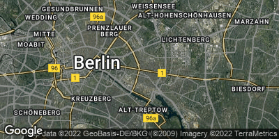 Google Map of Friedrichshain
