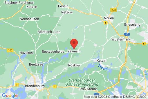 Karte Päwesin