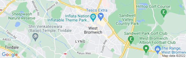 Map Of West Bromwich