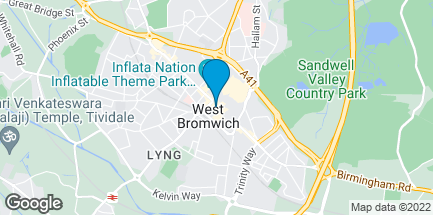 Map of 103 Sandwell Centre in West Bromwich