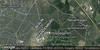 Google Map of Hoppegarten