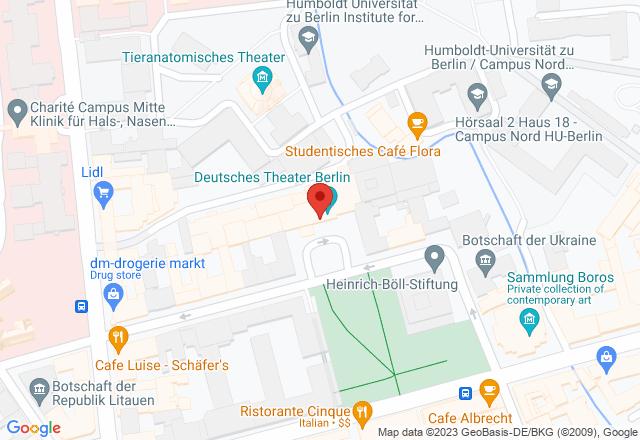 Deutsches Theater Berlin, Schumannstraße 13, 10117 Berlin