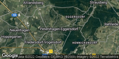 Google Map of Petershagen / Eggersdorf