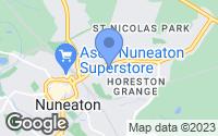 Map of Nuneaton, Warwickshire