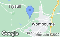 Map of Wombourne, Staffordshire