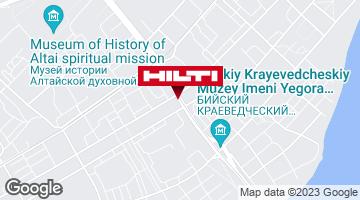 Get directions to Региональный представитель Hilti в г. Бийск