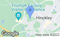 Map of Hinckley, Leicestershire