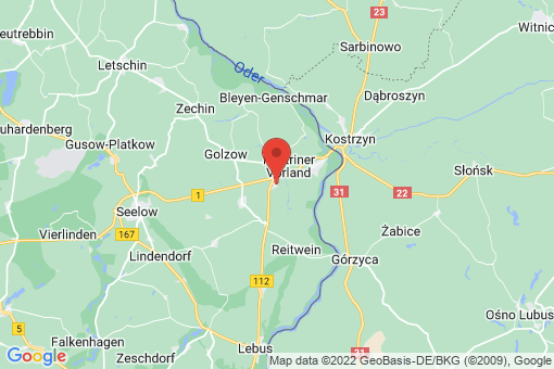 Karte Küstriner Vorland Manschnow