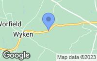 Map of Hilton, Shropshire