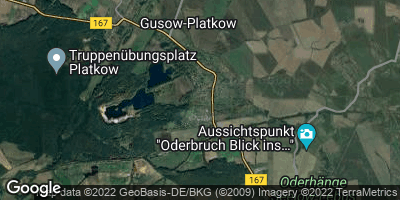 Google Map of Gusow-Platkow