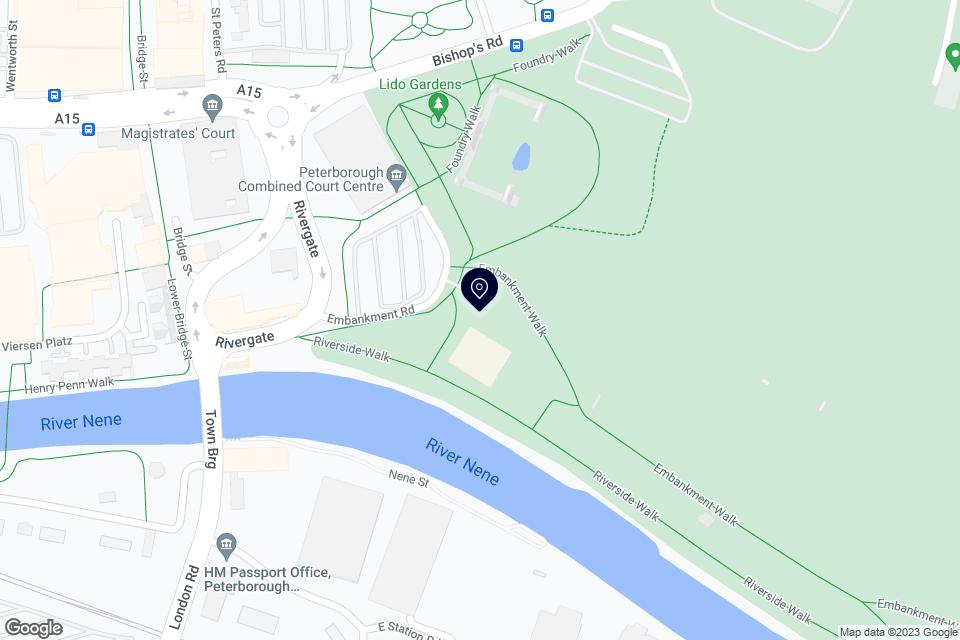 Embankment Rd, Peterborough, PE1 1EF map